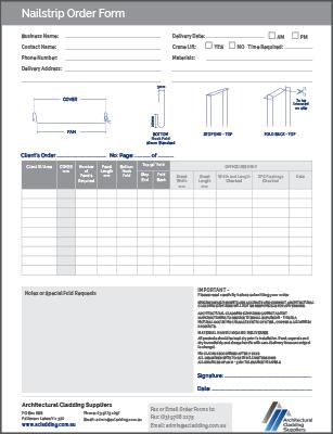 Nailstrip Order Form