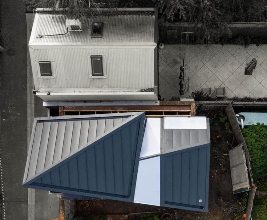 , Some Impressive Angles Are Delivered With Standing Seam Metal Cladding