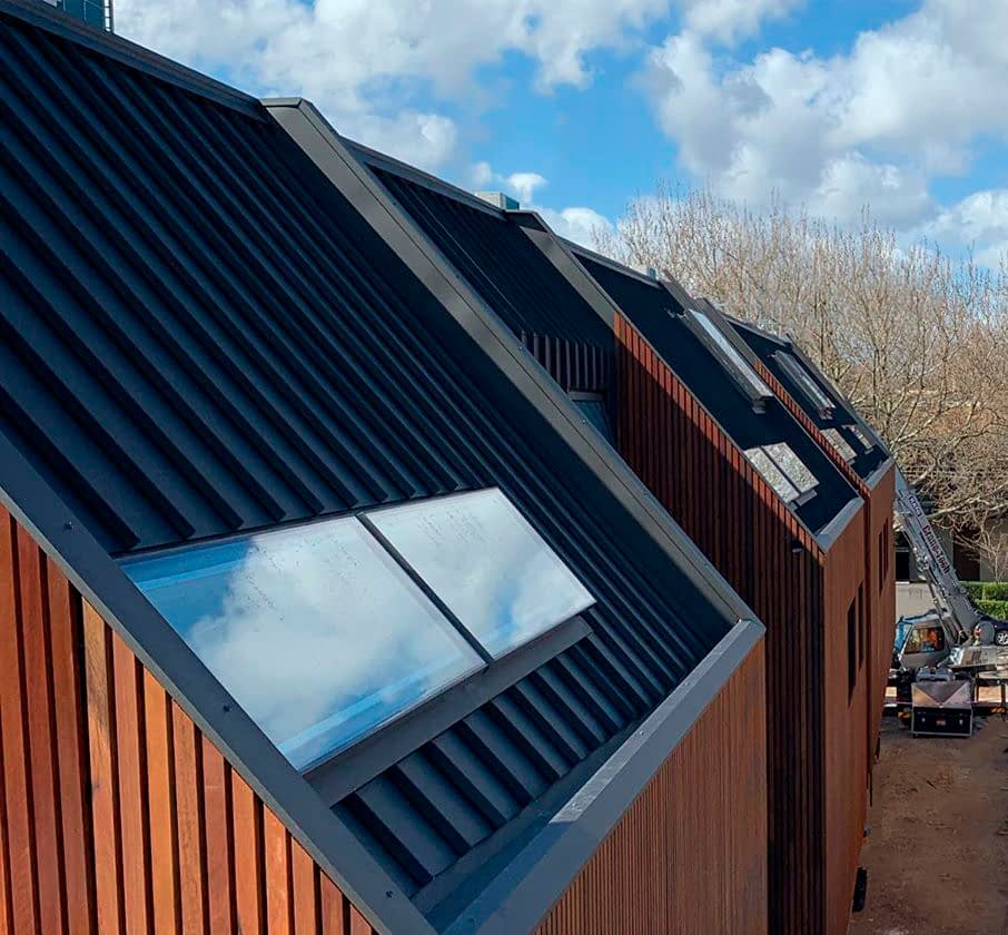 , Snaplock Metal Cladding Matches Perfectly With The Organic Elegance Of Timber