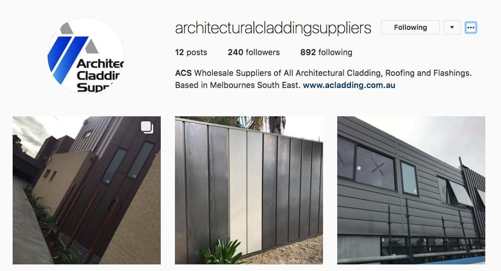 , Follow Architectural Cladding Suppliers On Instagram