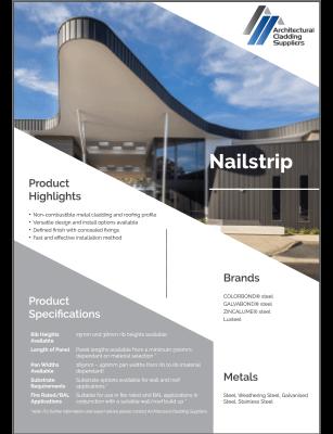 Nailstrip Data Sheet