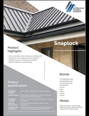 snaplock data sheet