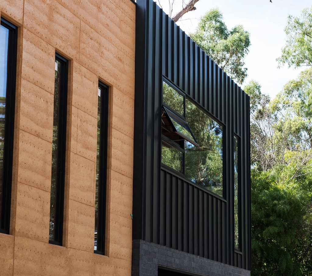 Colorbond steel cladding